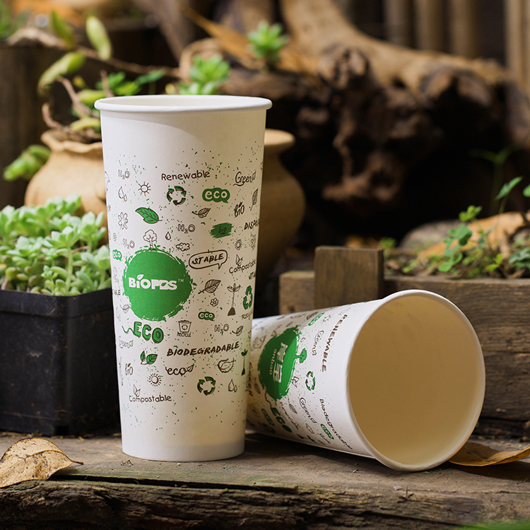 White Color Custom Logo Printed Takeout Coffee Paper Cups With Lids