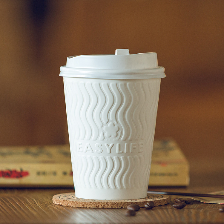 Custom Logo Printed Single Wall Stock Paper Cup With Lid
