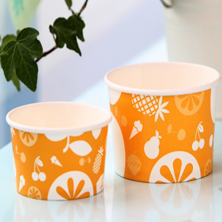wholesale disposable biodegradable clear mini dessert paper cup with good price