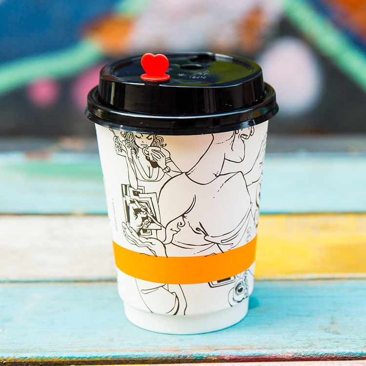 Customized Insulated Paper Coffee Cups Wholesale Double Wall Small Cups With Lids