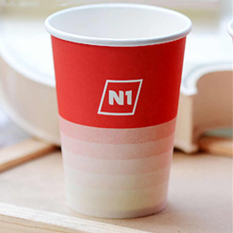Popular Hot Or Cold Drink Single Wall Biodegradable 8oz High Quality Tea Paper Coffee Cup With Lids
