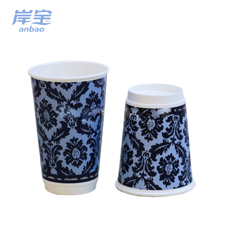 Quality and quantity assured coffee double wall paper cup fan
