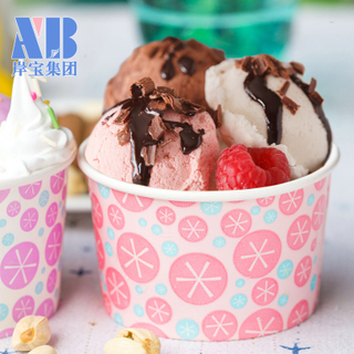 Eco-Friendly Customized Frozen Yogurt ice cream pint cup With Lid