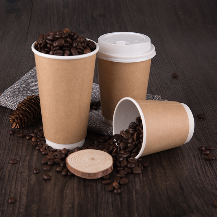 Patented Double Wall Disposable Pla Coated Space Paper Cups
