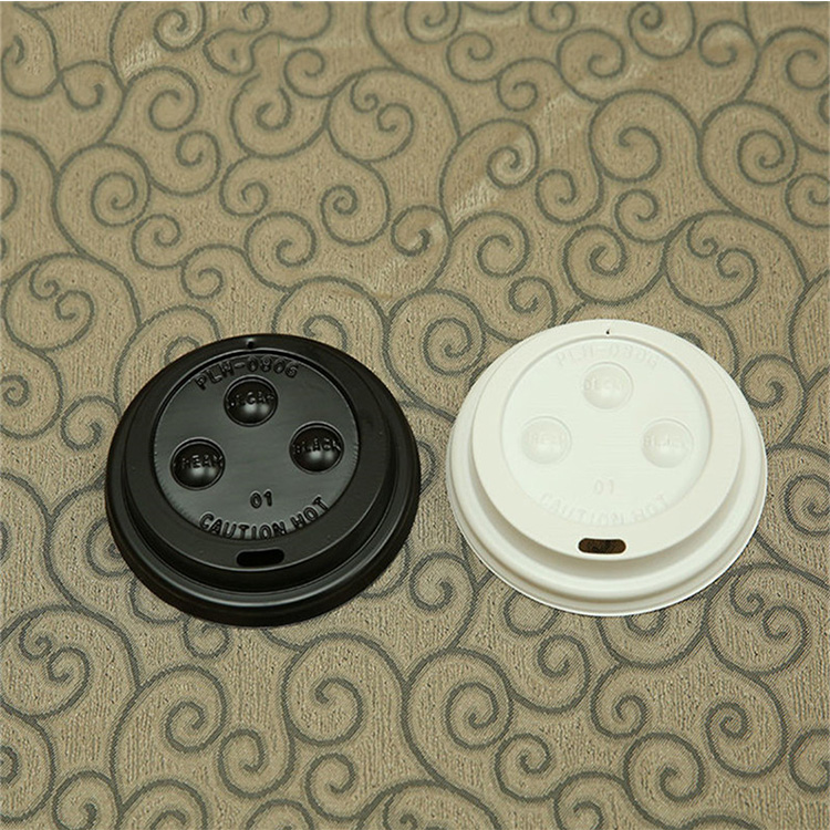 wholesale disposable biodegradable coffee paper cup cover plastic lid with good price