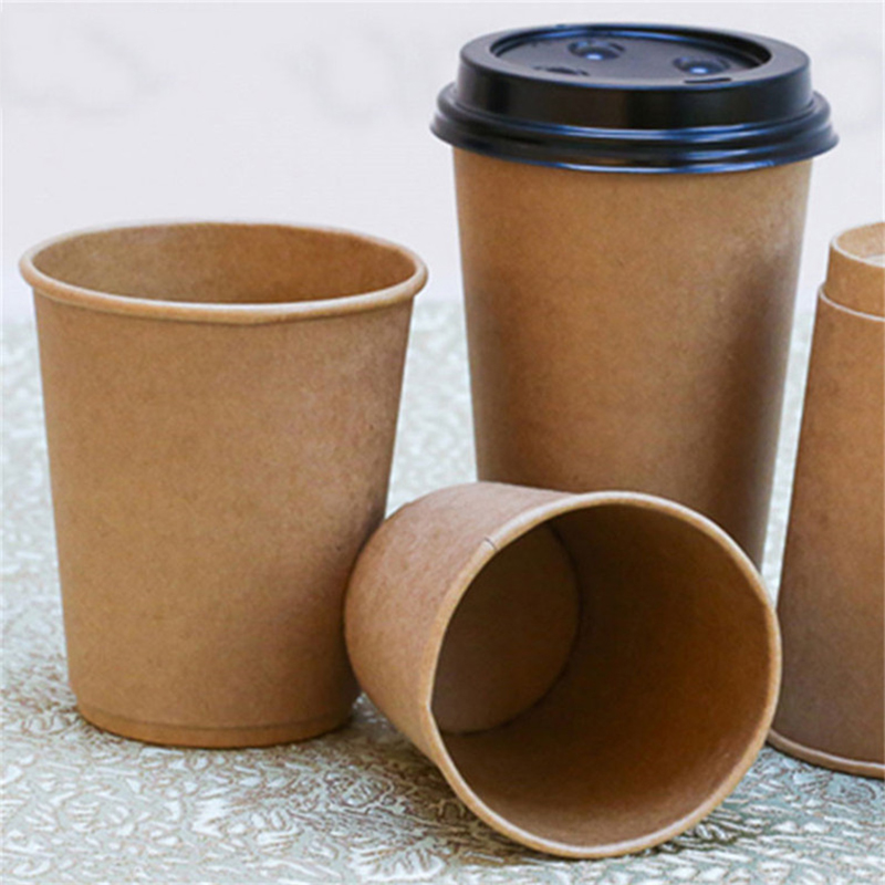 quick and easy sanitary kraft personalized paper coffee cup sleeves