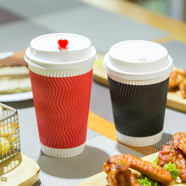 Double Wall Eco Friendly Ripple Coffee Paper Cup