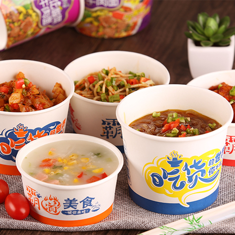 Wholesale Logo Customized Printed Paper Cup For Instant Noodles