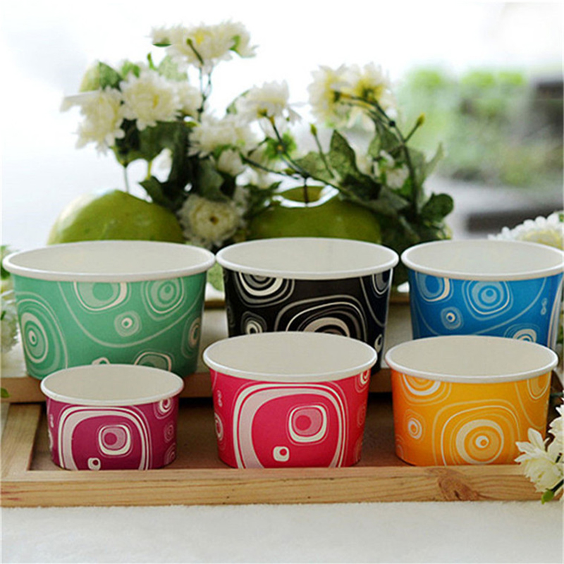 Complete specifications disposable ice cream paper cup