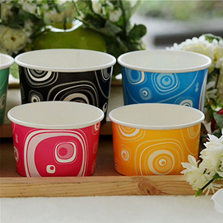 quick and easy disposable ice cream single wall paper cup