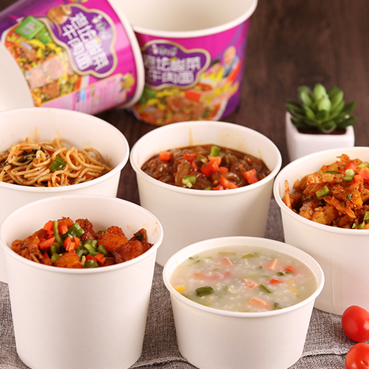 disposable paper soup cup/bowls with custom printing