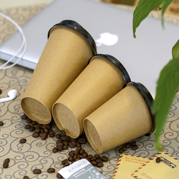 Top Seller 8-16oz Clean Double-Layer Thick Brown Paper Kraft Cup