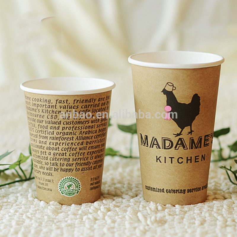 custom printed disposable 16oz disposable paper cup with dome plastic lids