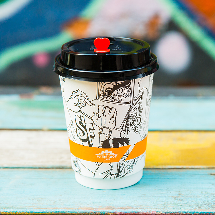 Various Cheap Wholesale Convenience Personalised Takeaway double wall coffee paper cup with lid