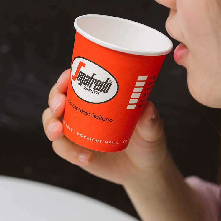 Custom Printed PLA Single Wall Biodegradable Paper Cups 250Ml