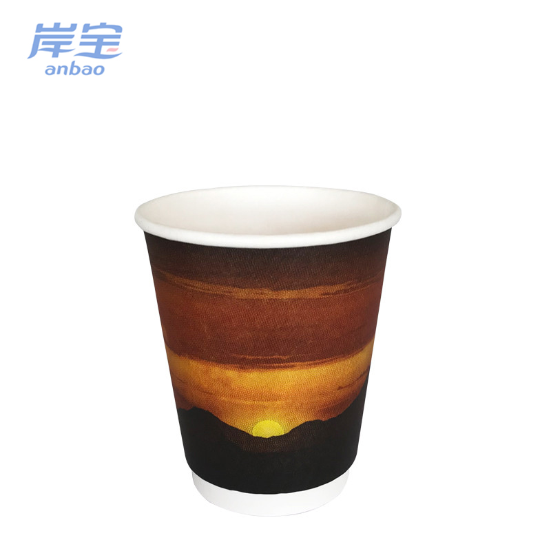 custom printed Disposable 32 ounce paper cup with plastic lid