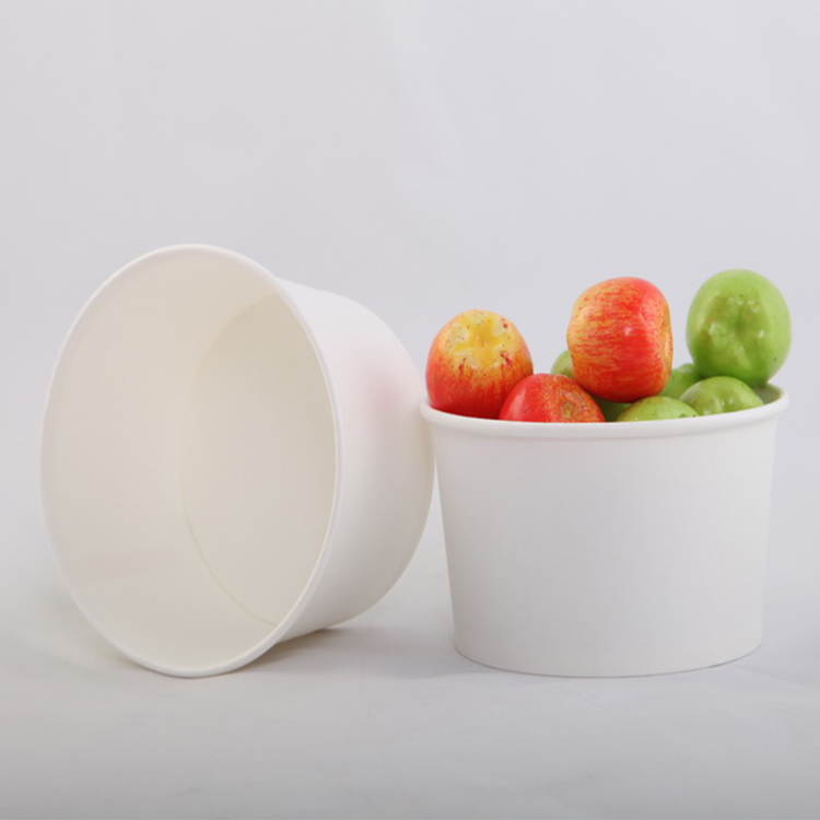 32oz Customized Food Grade Paper Cups Buckets Bowls Tubs For Popcorn Snack Packaging
