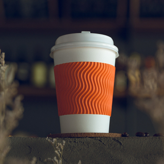 Biodegradable Ripple Wall Restaurant Paper Cups With Logo Printed