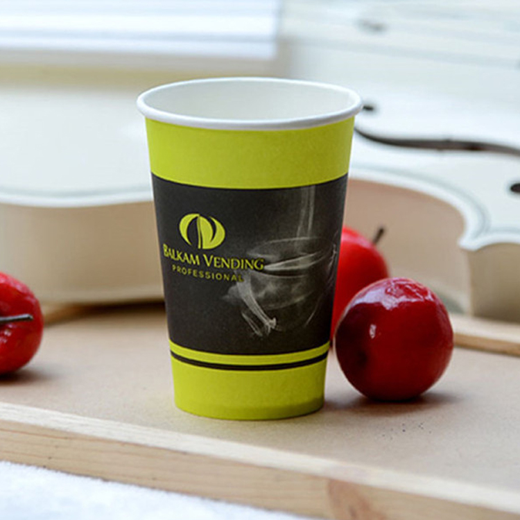 Custom Logo Printed Cold Drink Paper Cups With Lid