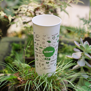 Customized Logo Disposable Takeout Hot Paper Coffee Cup With Lid