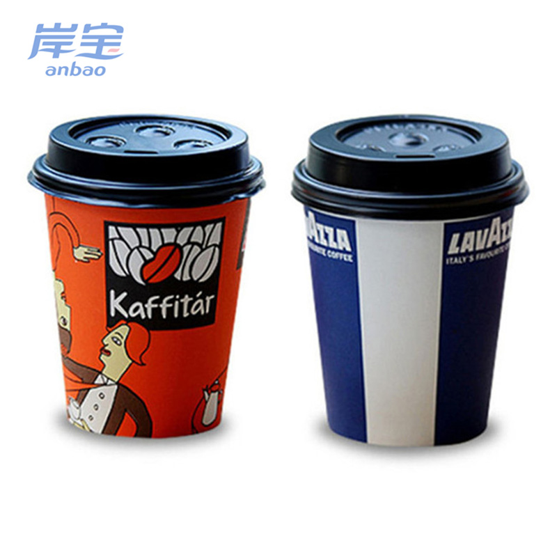 good quality single wall branded takeaway coffee cup/christmas paper coffee cup