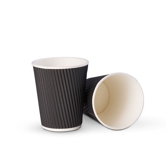 8oz 12oz 16oz Safe Healthy Ripple Disposable Coffee Paper Cups