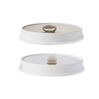 Disposable compostable printed coffee cup paper Lids