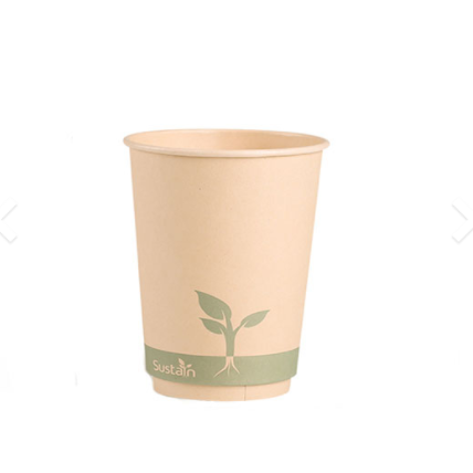 What are the benefits of compostable paper cups to the world?